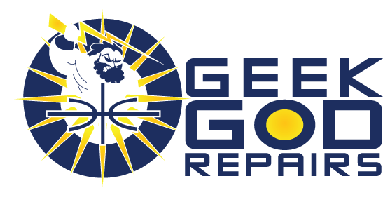 Geek God Repairs logo - click for home page
